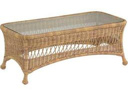 Whitecraft Sommerwind Wicker 44 x 21 Rectangular Glass Top Coffee Table