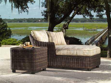 Woodard Whitecraft Sonoma Wicker 1 Person Cushion Conversation Patio Lounge Set