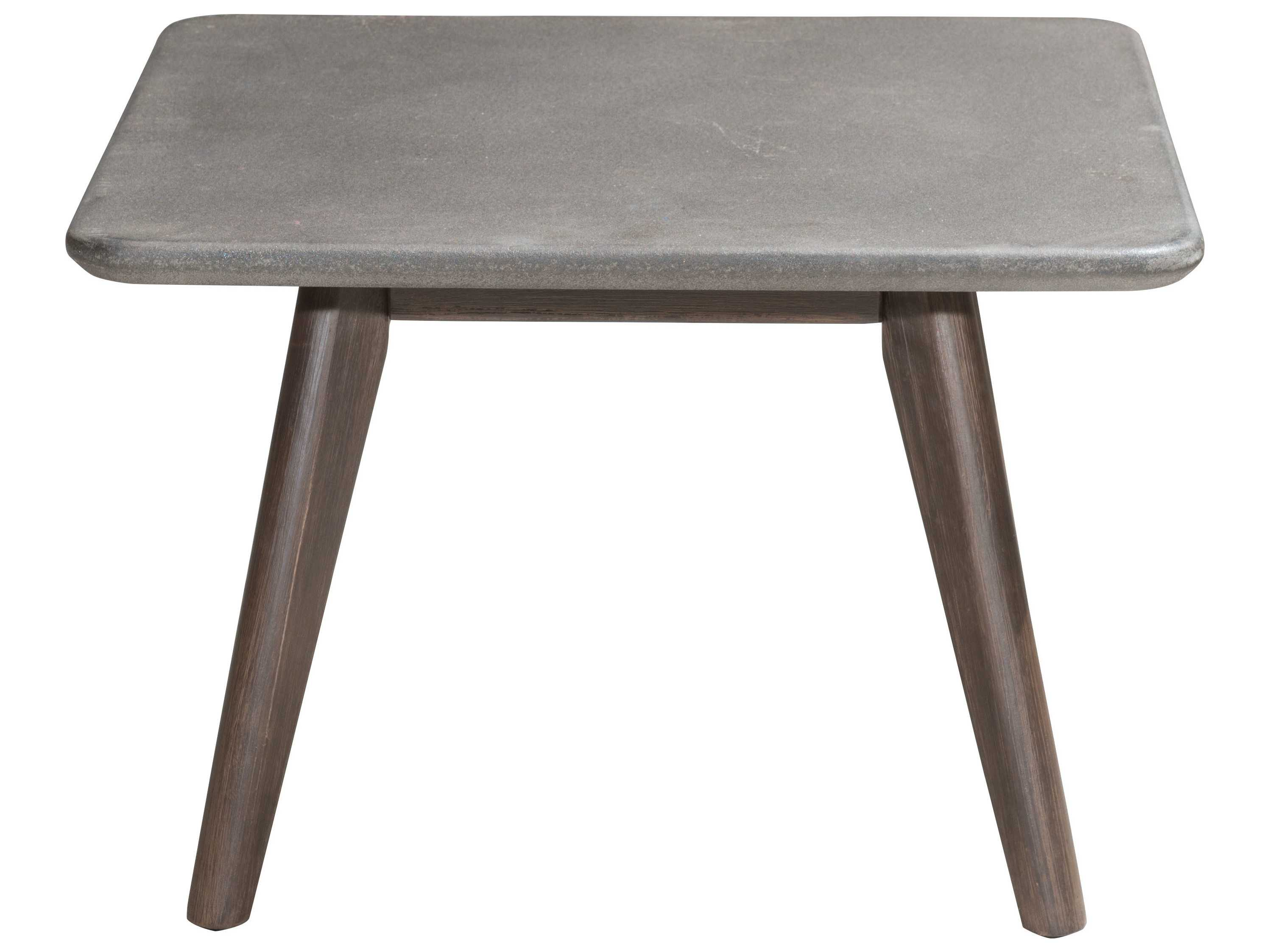 Zuo outdoor daughter acacia wood square poly cement for Zuo coffee tables