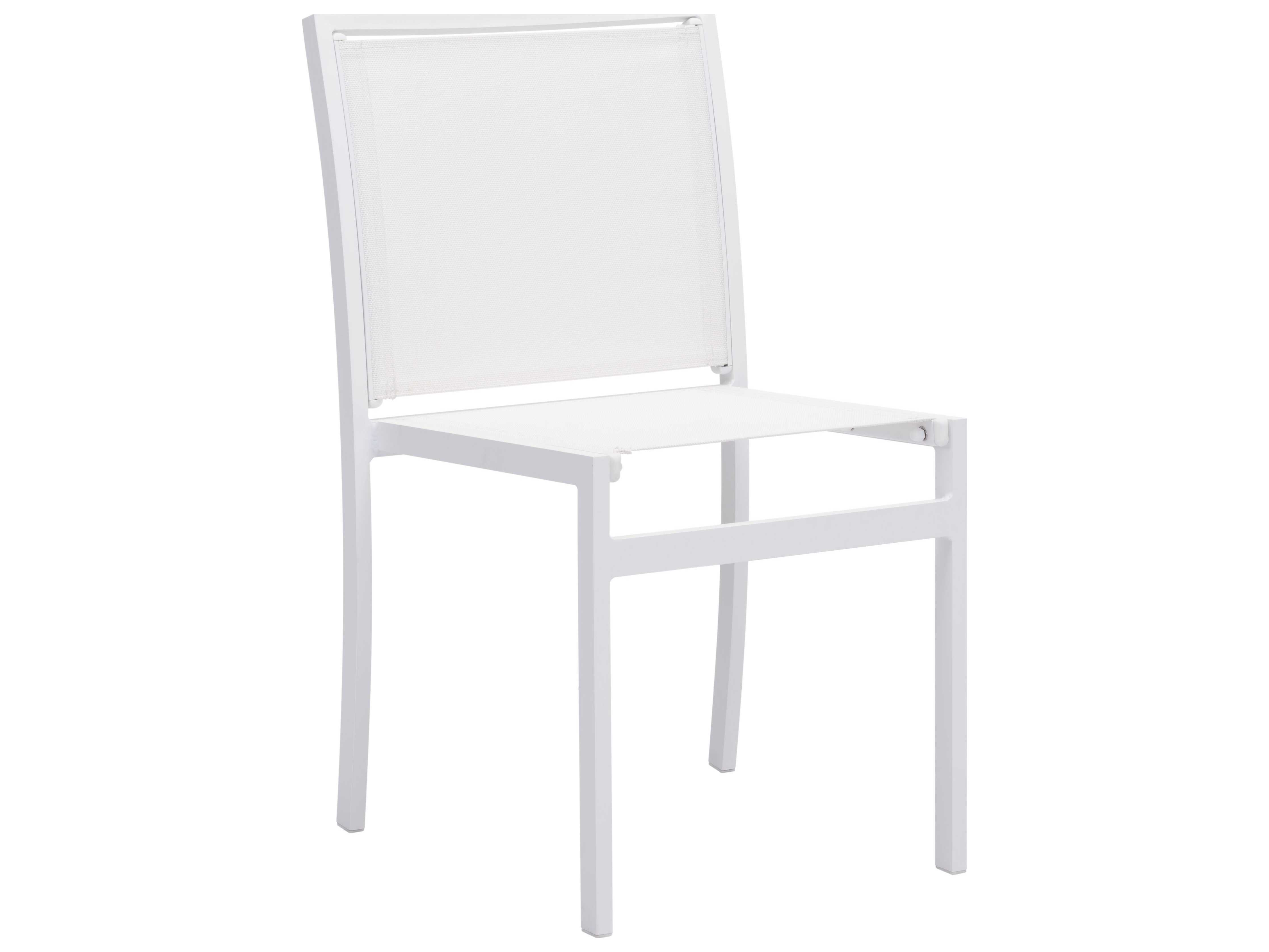 Zuo Outdoor Mayakoba Aluminum Mesh Dining Chair in White Sold in