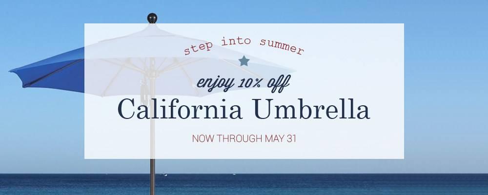 California Umbrella Memorial Day Sale