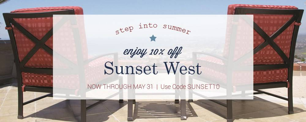 Sunset West Memorial Day Sale