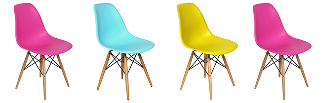 In a range of vivid hues, this classic silhouette brings modern polish to any dwelling.