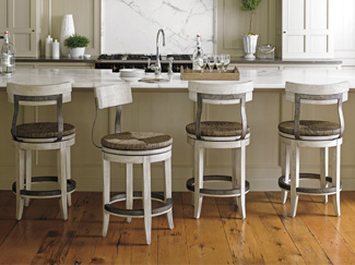 Bar stools offer elevated seating and a strong style statement. Learn more about bar stool sizes, construction, features, and styles
