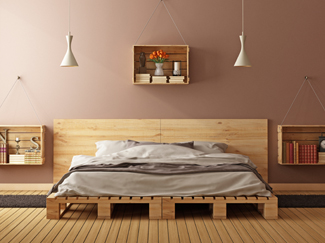 Bed frames offer a foundation for nighttime comfort. Learn more about bed frame sizes, materials, and styles.