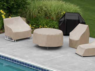 Patio furniture covers protect your outdoor furniture from outdoor elements when they are not in use. Learn more about patio furniture cover features and the different types of covers available.