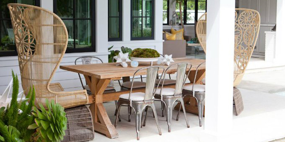 Mismatched Dining Chairs patio trend alert: mismatched dining chairs