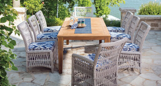 For those who prefer things less cookie-cutter and more bohemian and whimsical, mismatched dining chairs are perfect for your patio.