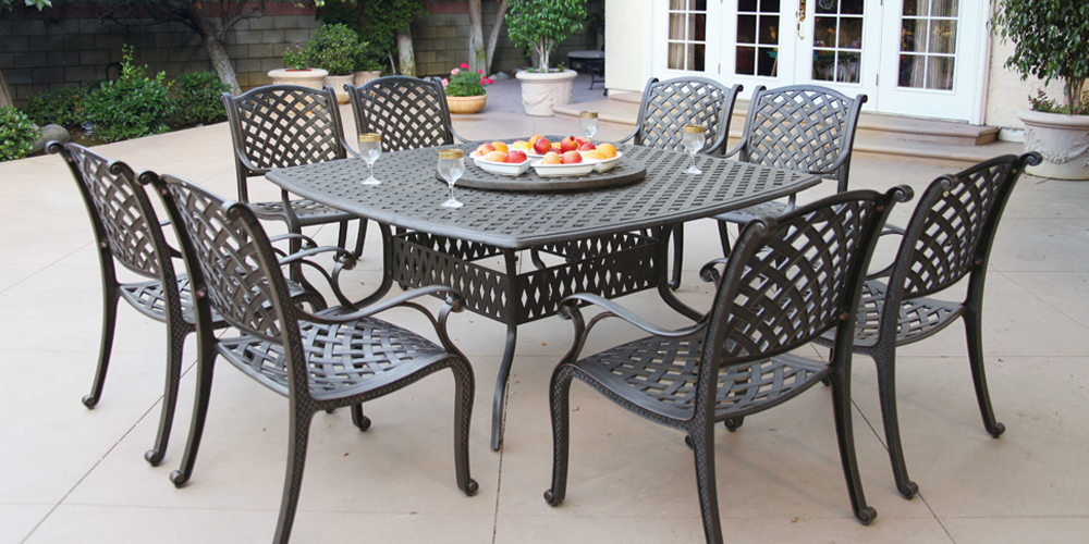 Unlike Aluminum Patio Furniture Which Is Constructed From Welded Tubular  (hollow) Frames, Cast Aluminum Patio Furniture Is Constructed From Frames  That Are ...