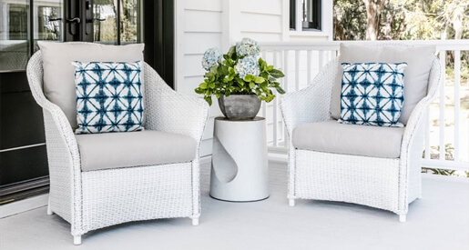 Whether yours is small or large, open or screened-in, porches help set a welcoming tone and should not be overlooked when it comes time to decorate your outdoor spaces.
