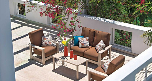 From seat cushions to lounge beds, we're showing you the best ways to add style and personality to your balcony.