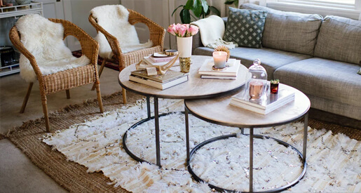 Nesting tables are a design dream, providing dynamic style and function in any place. Here, we show you our fave space saving end tables.