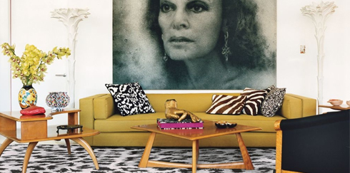 Take a peek into fashion designer, Diane von Furstenberg's home and learn how to get the look at LuxeDecor.