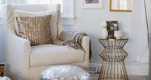 A reading nook is a great place to unwind. Create a trendy space for yourself with just a few pieces for the perfect look and feel!