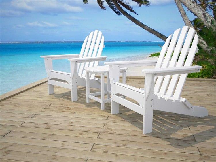 POLYWOOD Adirondack chairs on a patio