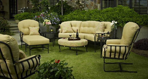 A good retro outdoor patio design exemplifies the aesthetic values of a bygone age with the comfort and convenience of the modern furniture market. Shop PatioLiving.