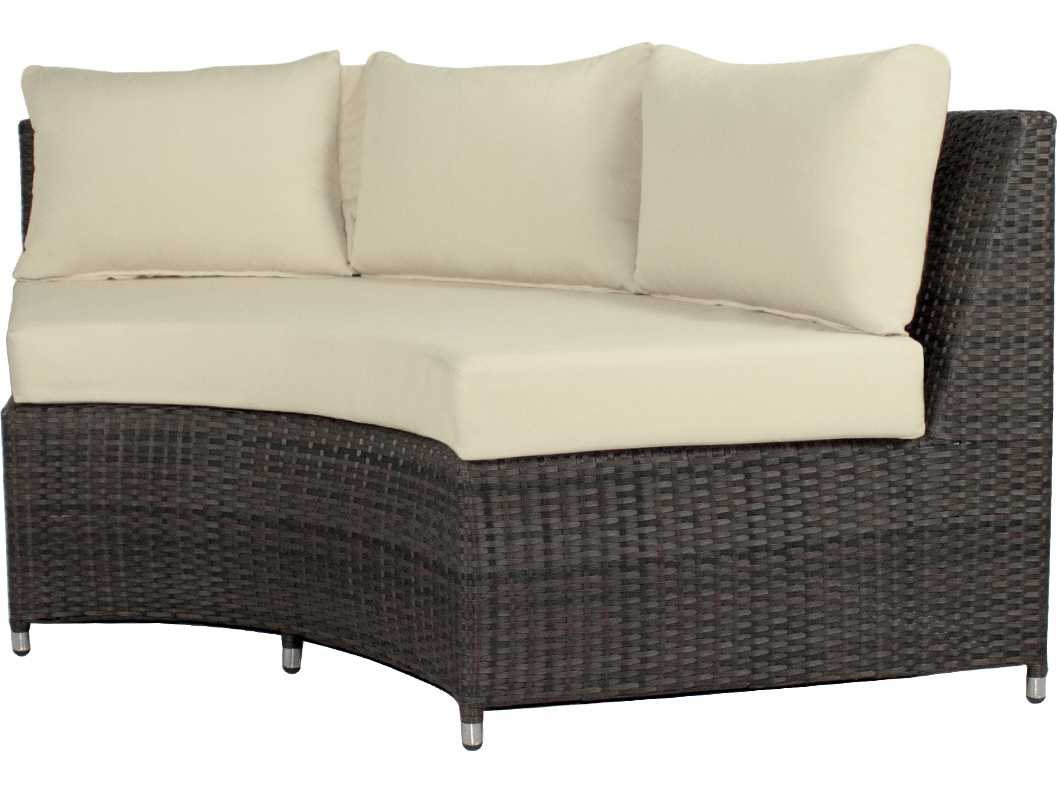 Source Outdoor Furniture Wicker Circa Curved Highback Bench