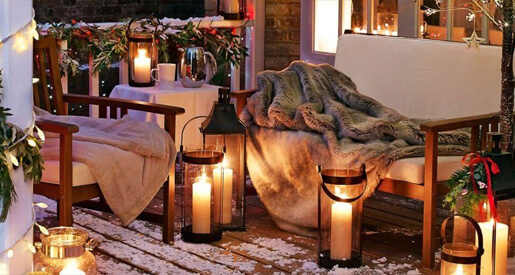 While we usually think of a trimmed tree and well-appointed table prepped for feasting as hallmarks of the holiday season, there are plenty of ways to dress up the outside of your home for the next few months.