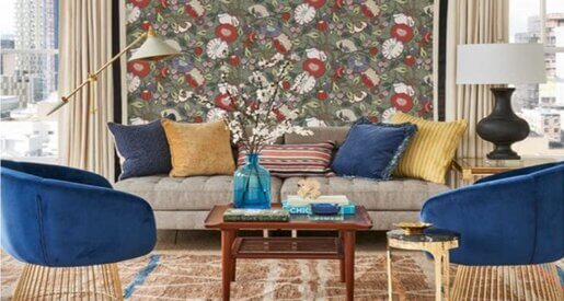 Maximalism means more of everything; that means more of your favorite colors, fabrics and accessories. To keep your decor from looking too random, find a few common colors or patterns to repeat through the room.