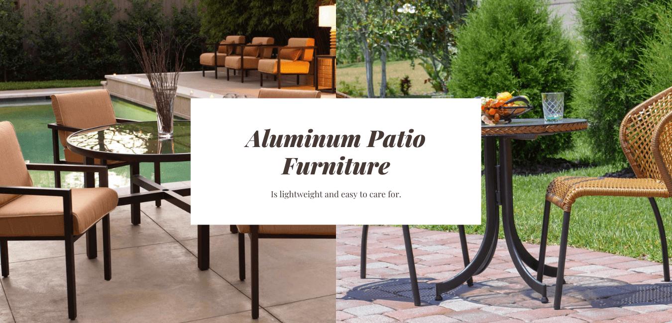 when buying metal patio furniture