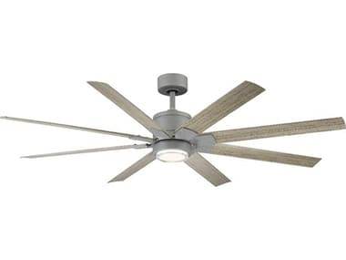 Modern Forms Renegade Graphite / Weathered Wood 66'' Wide LED Indoor / Outdoor Ceiling Fan MOFFRW200166LGHWW