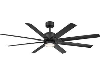 Modern Forms Renegade Matte Black 66'' Wide LED Indoor / Outdoor Ceiling Fan MOFFRW200166LMB