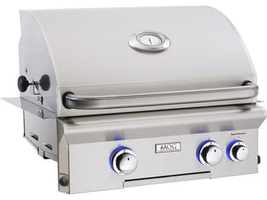 AOG L Series Built-in 24''  BBQ Grill with Rotisserie and Back Burner AG24NBL