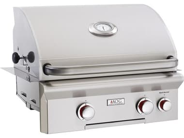 AOG T Series Built-in 24''  BBQ Grill with Rotisserie and Back Burner AG24NBT
