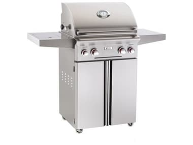 AOG T Series Portable 24'' On Cart  BBQ Grill with Rotisserie Back Burner & Side Burner AG24PCT
