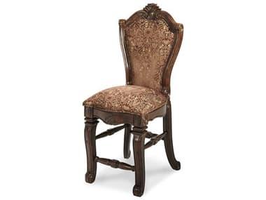 Aico Furniture Michael Amini Windsor Court Bronze & Gold / Vintage Fruitwood Counter Stool AIC70033N54