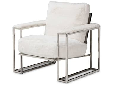 AICO Furniture Astro Stainless Steel Accent Chair AICTRASTRO35MST13