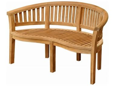 Anderson Teak Curve 3 Seater Bench Extra Thick Wood AKBH005CT