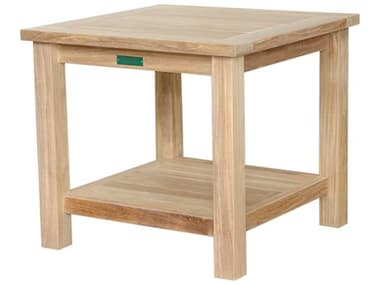 Anderson Teak 22'' Square 2-Tier Side Table AKTB222S