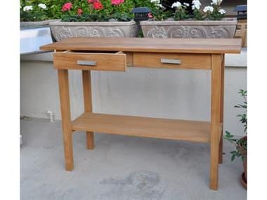 Anderson Teak Atlanta Rectangular Serving Table W/ 2 Drawers And 1 Shelf AKTB4717ST