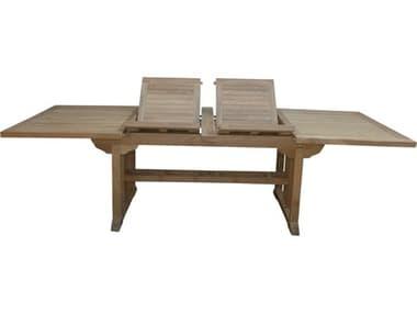 Anderson Teak Sahara 106'' Rectangular Double Ext. Table AKTBX106RD