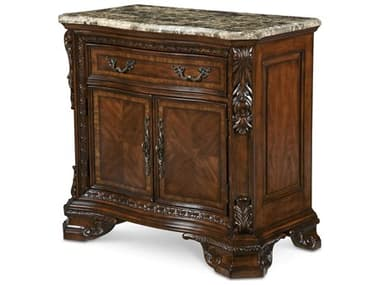 A.R.T. Furniture Old World 37 x 19.5 Rectangular Stone Top Door Nightstand AT1431422606