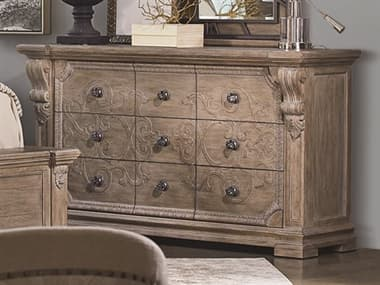 A.R.T. Furniture Arch Salvage Wren Parch Nine-Drawers Triple Dresser AT2331312802