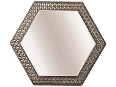 A.R.T Furniture Geode Kona and Facet 50''W x 43''H Citrine Wall Mirror AT2381202303