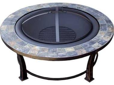 AZ Patio Heaters 40'' Round Slate Top Wood Burning Firepit AZFT51216