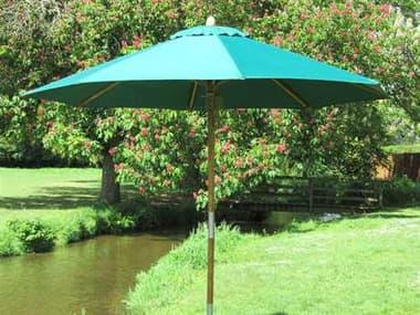 Bambrella Sirocco Wood 10' Round Pulley Lift Umbrella B130RS