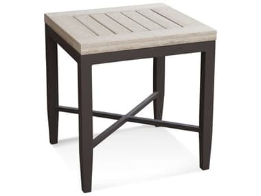 Braxton Culler Outdoor Luciano Antique Birch / Granite 20'' Wide Aluminum Recycled Plastic Square End Table BCO414071