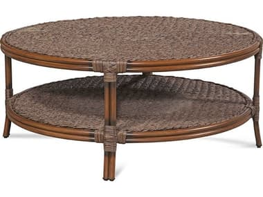 Braxton Culler Outdoor Sardinia Cigar 42'' Wide Wicker Round Chat Table BCO421070