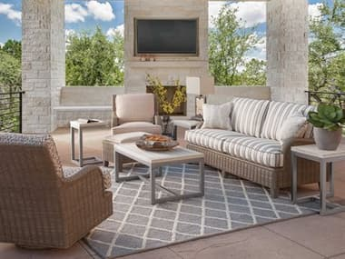 Braxton Culler Outdoor Lake Geneva Wicker Cushion Lounge Set BCO444011SET