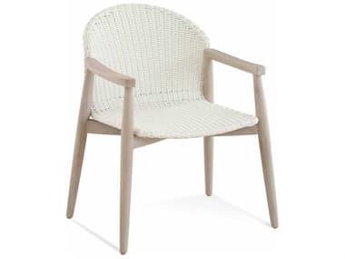 Braxton Culler Outdoor Shinnecock Bisque Teak Wicker Dining Chair BCO483029