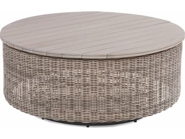 Braxton Culler Outdoor Paradise Bay Driftwood 42'' Wide Teak Wicker Round Chat Table BCO486070