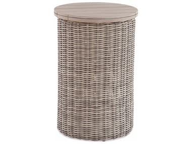 Braxton Culler Outdoor Paradise Bay Driftwood 16'' Wide Teak Wicker Round End Table BCO486122
