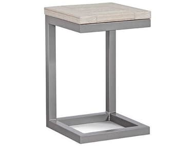 Braxton Culler Outdoor Alghero Antique Birch / Gunmetal 15'' Wide Aluminum Recycled Plastic Square End Table BCO497171