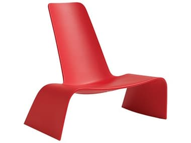 Bernhardt Design Plank Outdoor Land Red Recycled Plastic Lounge Chair BDO11000003