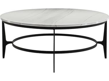 Bernhardt Avondale Gray / Black 44'' Wide Round Coffee Table BH470015