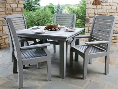 Berlin Gardens Classic Terrace Recycled Plastic Dining Set BLGCLSSCTRRNCEDINSET3